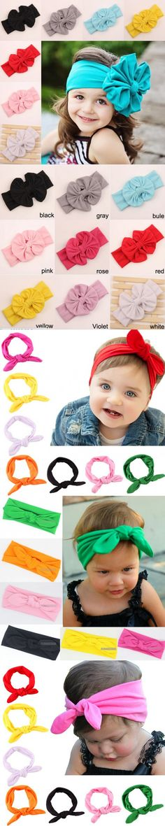 2016 Retail big bow headwrap lovely bowknot baby headbands cotton baby girl hair bow pick drop shipping A179-1 $1.38