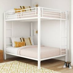 Bunk Beds With Drawers, Bunk Bed With Trundle, Metal Bunk Beds, Bunk Beds With Stairs, Twin Bunk Beds, White Bunk Beds, Bed Rails, Bunk Beds For Girls Room, Bunk Bed Rooms