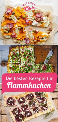 The best recipes for Flammkuchen - Pizza & Flammkuchen - Dinner Recipes Leftovers Recipes, Dinner Recipes, Vegan Breakfast Recipes, Healthy Recipes, Healthy Food, Toast Pizza, Pizza Pizza, Pumpkin Seed Recipes, Mets