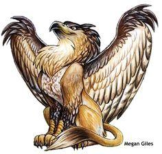 Griffin the Half Eagle and Half Lion Bird