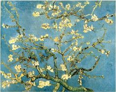"""""""Blossoming Almond Tree""""  Vincent van Gogh Painting, Oil on Canvas Saint-Rémy, France: February, 1890 Van Gogh Museum Amsterdam, The Netherlands, Europe"""