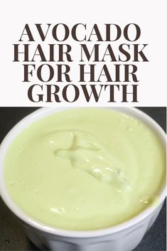 The best deep conditioner for natural hair growth. how to make avocado hair mask. #AvocadoMask