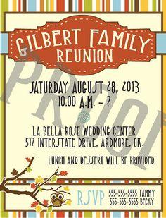 49th Annual Palmer Family Reunion invitation | Invitations ...