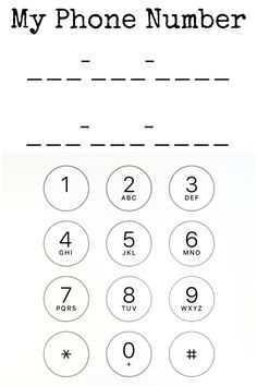 How to teach your child your phone number - beauty through imperfection Home Learning, Home Schooling, Preschool Activities, Preschool Writing, Kids Education, Life Skills, Curriculum, Teaching, How To Plan