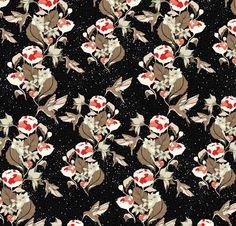Camille Dupuy - Imprimé Birds pour Les Fées de Bengale - Collection Hiver 2011