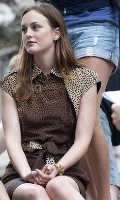Leighton Meester As Blair Waldorf In A Full On Leopard Print Ensemble, 2010