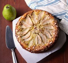 Whole Gluten Free Dairy Free Pear and Almond Cake