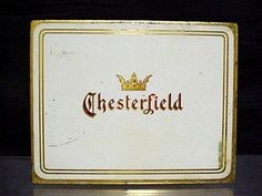 I love the simplicity of marketing from older times.  Chesterfield Cigarette Tin
