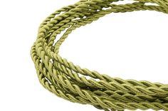 strijkijzersnoer gedraaid groen smaragd Snoerboer