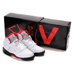 new concept c295e 725a5 Nike Air Jordan 5 V Retro-Fire Red (White Fire Red-Black