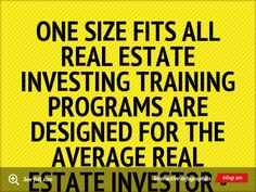 Infographic: One size fits all real estate investing training programs are designed for the average real estate investor - and you are not average.