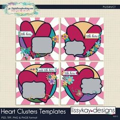 Heart Clusters by LissyKay Designs