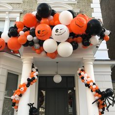 Time To Party Looking to throw the party that beats all other parties for a lifetime? Drop us an email for installations or browse our online shop to get creative. Halloween Door Decorations, Balloon Decorations, Fall Birthday, Birthday Parties, Halloween 2020, Halloween Party, Balloon Door, Bubblegum Balloons, Halloween Balloons