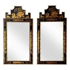 Thinking of so many rooms these would look great in! Italian #Chinoiserie #Pagoda Shaped Bamboo #Mirrors - $4,000 Est. Retail - $1,000 on Chairish.com
