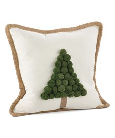Look what I found on #zulily! Ivory Christmas Tree Pillow by Saro #zulilyfinds