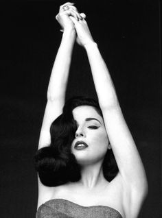 Love Dita Von Teese. Hair makeup, clothing, lingerie, heels