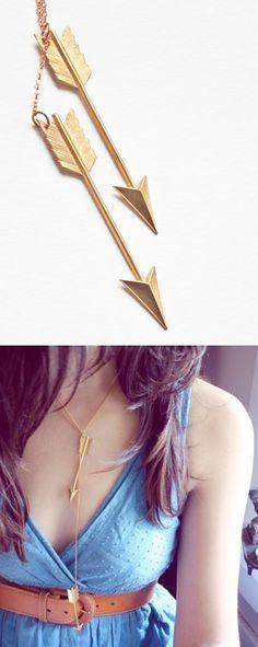 Arrows chain necklace - love!