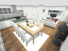 Eat In Kitchen Floor Plans - Making and decorating a house is such a hard situation if we reach not in reality know and understand this. Kitchen Design Open, Eat In Kitchen, Interior Design Kitchen, Kitchen Decor, Open Kitchen, Terrazzo Flooring, Kitchen Flooring, Small Kitchen Floor Plans, Single Level Floor Plans