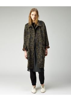 Organic by John Patrick / Oversize Camo Coat | La Garçonne (this is an actual wool coat, not a rain jacket.)