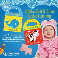 Baby & Toddler adorable BATH TIME books! Brand new Usborne Books & More series from the Spring 2017 catalog filled w/ new releases. Vibrantly Colored & safe for underwater play & reading! Available to order on my website now: GinasUsborneBookstore.com