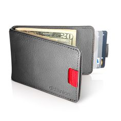 Wally Minimal Leather Wallet with Pull-Tab and Money Clip by Distil Union