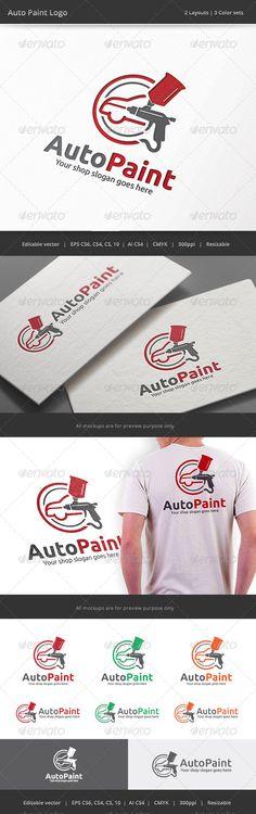 Auto Car Body Paint Logo