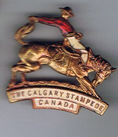 Calgary Stampede pin unknown date Calgary, Rodeo, Bull Riding