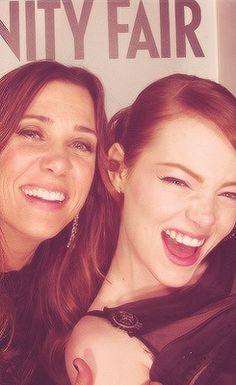 Kirsten Wiig & Emma Stone: funniest ladies in hollywood.