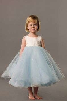 Natural waist sleeveless satin charming flower girl dress