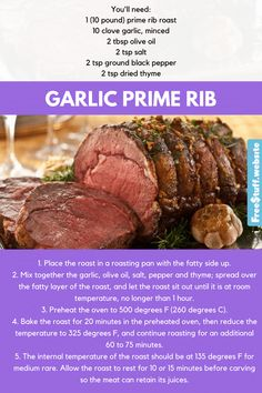 This incredibly easy roast serves 15! Try it for your next family gathering.