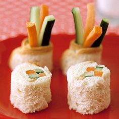 """""""Sushi"""" Surprise  These cute """"sushi"""" pieces are a perfect April Fool's Day treat for the kids!  #recipe #aprilfoolsday"""