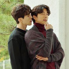 Lee Min Ho - Kim Woo Bin, Gong Yoo - Lee Dong Wook or Song Joong Ki - Jin Goo are your favorite bromance pair? Lee Dong Wook Goblin, Goblin Gong Yoo, Asian Actors, Korean Actors, Korean Dramas, Lee Dong Wok, Goblin The Lonely And Great God, Goblin Korean Drama, Goong Yoo