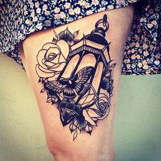 Home - Tattoo Spirit Head Tattoos, Rose Tattoos, Body Art Tattoos, Small Tattoos, Tattoo Designs, Tattoo Ideas, Lamp Tattoo, Oldschool Tattoos, Tattoo Spirit
