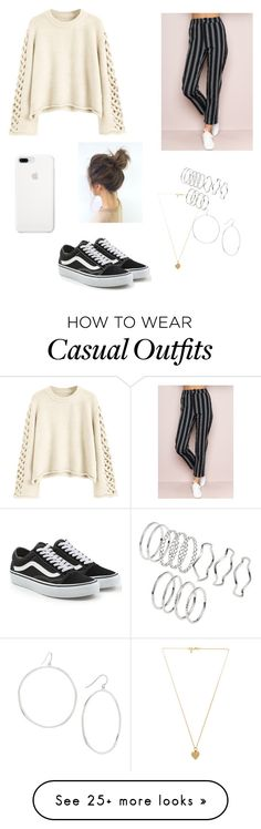 """casual day out"" by sophiaaa333 on Polyvore featuring Vans, Vanessa Mooney, H&M and Gorjana"