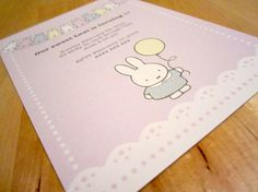 Printable Miffy Party Invitation by BlossomTreeDesigns on Etsy, $15.00