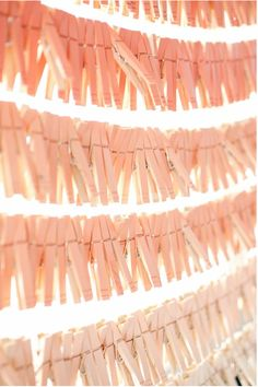 Pink clothespins ♥