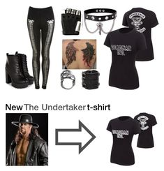 """""""The Undertaker New t-shirt"""" by justefan ❤ liked on Polyvore"""