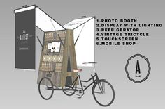 This upcycled pop up shop is a super sweet idea. It was built for a chocolate and beer company who needed a mobile shop. Kiosk Design, Display Design, Retail Design, Store Design, Design Design, Handy Shop, Pop Up Market, Mobile Shop, Mobile Kiosk