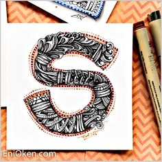 Zentangle®️ Initials and Letters • enioken.com