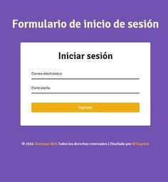 Formulario de inicio de sesión con PHP & MySQL