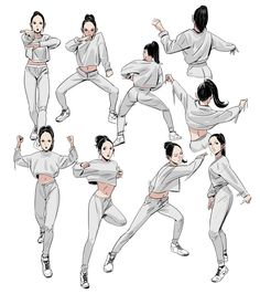28 Ideas for dancing drawings illustration Sketch Art, Drawing Sketches, Art Drawings, Body Sketches, Drawing Tips, Drawing Ideas, Character Design Animation, Character Art, Character Poses