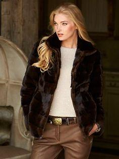 A Pamina Mink Coat by Pologeoris. Snow Fashion, Fur Fashion, Fashion Outfits, Fashion Trends, Royal Blue Outfits, Mink Jacket, Fabulous Furs, Kinds Of Clothes, Business Attire