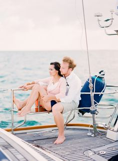Sailboat Engagement Session - Miami - Florida - Film - Contax 645 - Michelle March Photography -