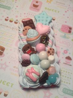 Sweet Deco Domo Kun Kawaii Decoden case for iPhone by Lucifurious, $38.00
