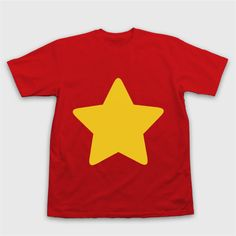 STEVEN UNIVERSE T-Shirt Star Shirt ($29) ❤ liked on Polyvore featuring tops, red top, shirts & tops, star shirt, star print top and red shirt