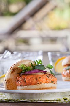 Looking for something a little different? Try the complex, smoky flavor of this upscale salmon burger.