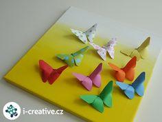 obraz na plátně s motýly Origami, Creative, Fun, Origami Paper, Origami Art, Hilarious