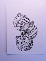 Zentangle Christmas Ornaments! Very cool.