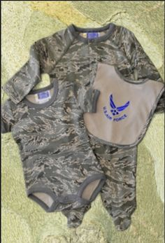 Air Force ABU 3 Pc Set  #airforce #usaf #abu #camouflage #onesie #haparnold