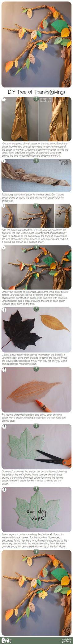 DIY Tree of Thanks(giving) via pindemy.com